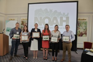 NCAH top students 2017. Left to right Matthew Buckley, Megan Brady, Leah Craven, Nicola Nelson, Keira Gifford and John Newbury taken at BMA House in London on 15th June. (Other top students Emma Houghton, Kate Morris, Sarah Wood and Louise Good were unable to be there to receive their certificate).