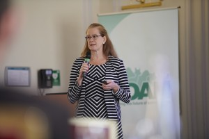 Gaynor Hillier speaking at the NOAH Members Day on 15 June