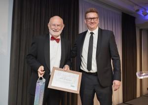John FitzGerald receives NOAH Special Award from Jamie Brannan